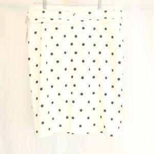 Alex Marie Women's 12 Skirt White/Navy NWT
